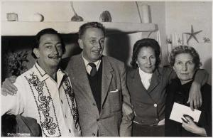 Meeting together, Walt Disney and Salvador Dali