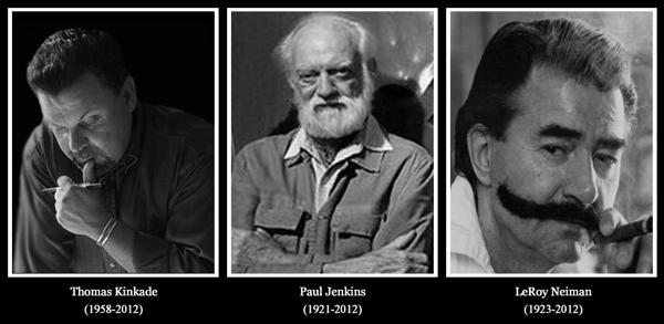Thomas Kinkade, Paul Jenkins, and Leroy Neiman