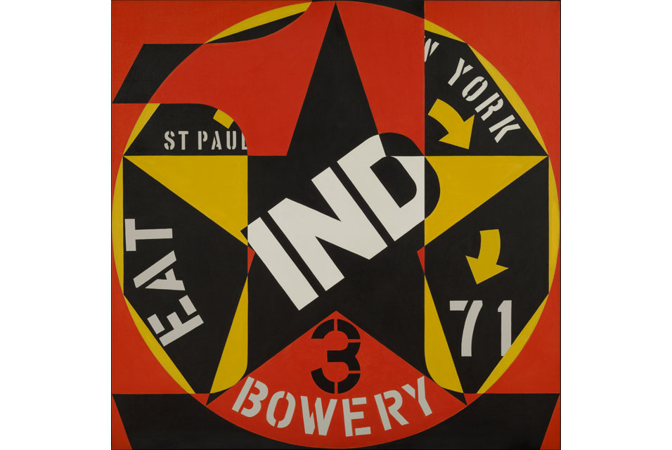 Robert Indiana, Decade Autoportrait 1963, oil on canvas. Currier Museum of Art, Manchester, New Hampshire