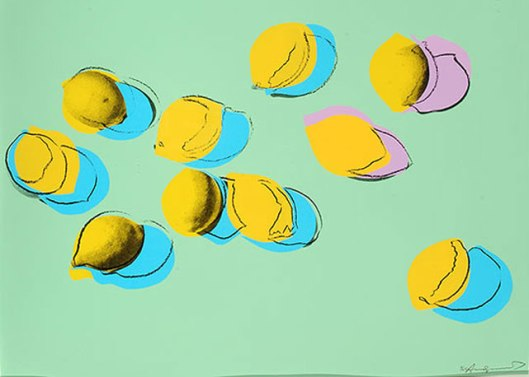 """Space Fruits: Lemons"" - Andy Warhol,  1978"