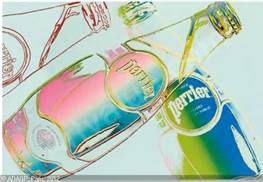 Perrier Screenprint - Andy Warhol, 1980s