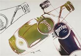 Perrier Screenprint - Andy Warhol, 1980s