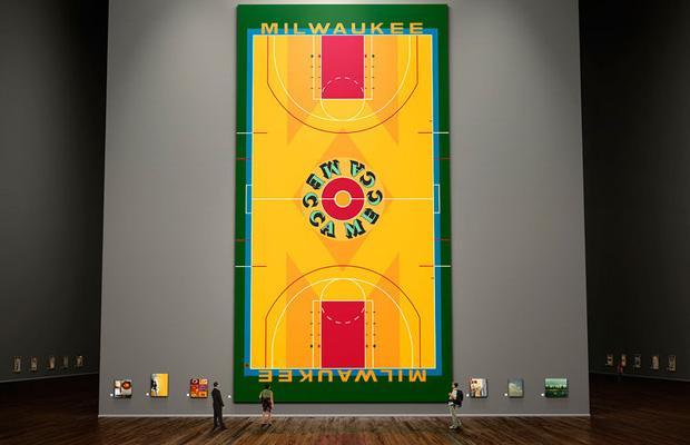Milwaukee Bucks Basketball Court Floor