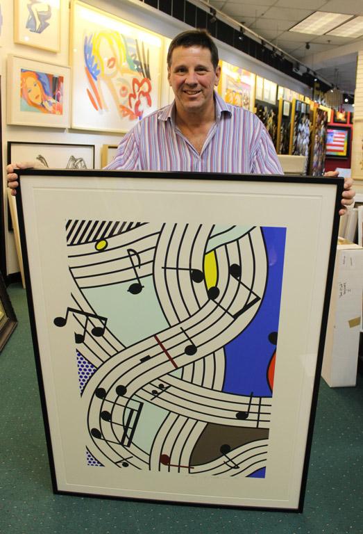 Ken Hendel with Lichtenstein
