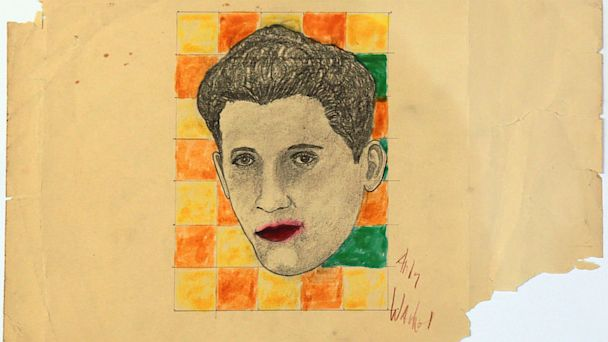 Alleged Warhol Drawing of Rudy Vallee