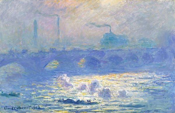 Another work from Claude Monet's Waterloo Bridge series, from 1903.