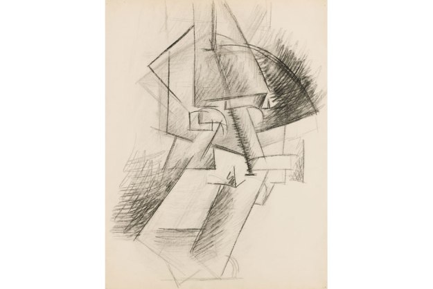 Pablo Picasso, Head, 1912. Charcoal on paper, 64.50 x 49.50 cm. Scottish National Gallery of Modern Art. Photograph courtesy of Sotheby's.