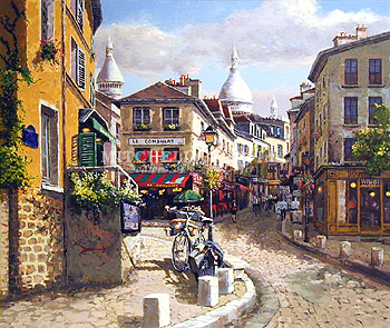 "Sam Park - Montmartre, Delux Canvas Enhanced 32"" x 38"", Edition of 325"