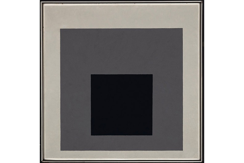 """Homage to the Square """"A"""", 1950, oil on Masonite, 77.5 x 77.5 cm. The Cartin Collection ©The Josef and Anni Albers Foundation/VG Bild-Kunst, Bonn 2014."""