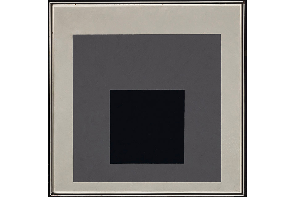 "Homage to the Square ""A"", 1950, oil on Masonite, 77.5 x 77.5 cm. The Cartin Collection ©The Josef and Anni Albers Foundation/VG Bild-Kunst, Bonn 2014."