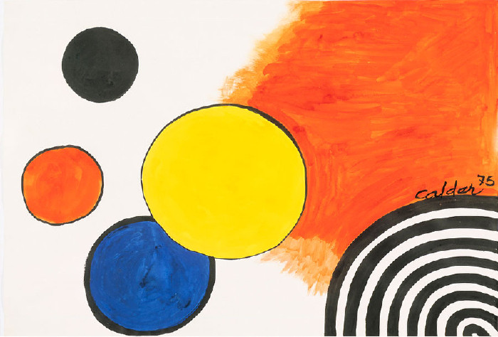 Alexander Calder Occident, 1975 Gouache and ink on paper 29 x 43 inches (73.6 x 109.2 cm) © 2014 Calder Foundation, New York/Artists Rights Society (ARS), New York