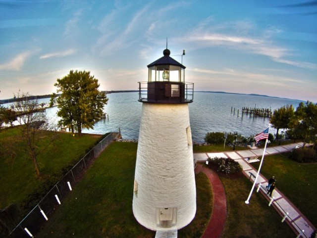 Terry and Belinda Kilby, Concord Point in Havre de Grace, photographed by a drone. Photo: Terry and Belinda Kilby, courtesy Elevated Element.