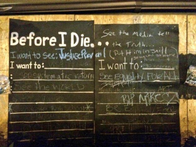 Before I Die in Ferguson Photo: Courtesy @kharyp Twitter