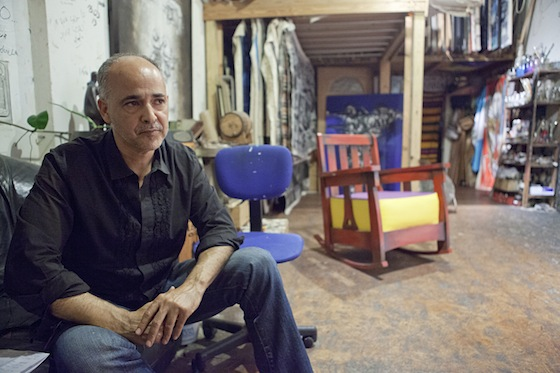 Photo by Michael E. Miller Máximo Caminero in his Miami studio