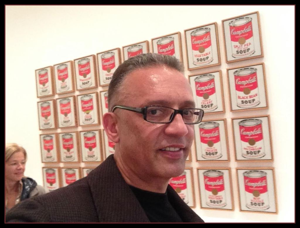 """Mood Conyers with Warhol's  """"Campbell's Soup Cans,"""""""