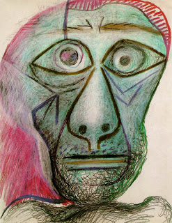This self-portrait (made only a year or so before his death, at the remarkable age of 91)