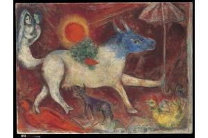 Marc Chagall, La mucca con l'ombrello 1946, olio su tela New York, The Metropolitan Museum of Art, Bequest of Richard S. Zeisler, 2007 (2007.247.3) © Chagall ®, by SIAE 2014.