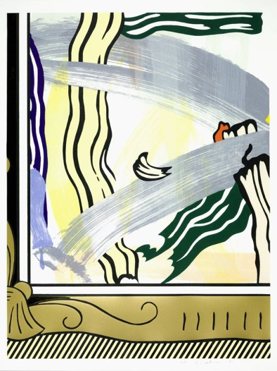 Painting in Gold Frame from 'Paintings' 1983-4 Roy Lichtenstein 1923-1997 Purchased 1984 http://www.tate.org.uk/art/work/P77054