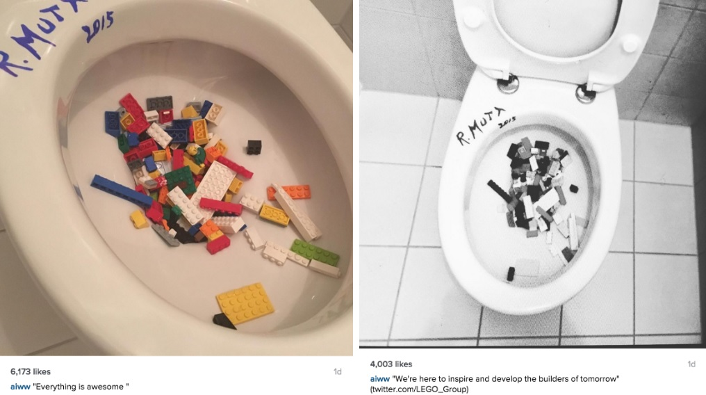 Ai Weiwei's recent anti-Lego posts on Instagram