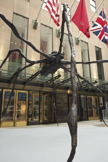 Louise Bourgeois Spider (conceived in 1996 and executed in 1997).  Estimate: $25-35 million. Image: Courtesy of Christie's.