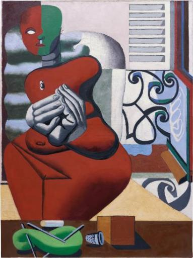 Le Corbusier Femme rouge et pelote verte (1932) Estimate: $4–6 million. Image: Courtesy of Phillips