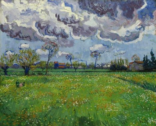 Vincent van Gogh Paysage sous un ciel mouvementé (1889) Estimate: $50–70 million.