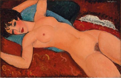Amedeo Modigliani Nu Couché (Reclining Nude) (1917-18). Estimate: In the region of $100 million. Image: Courtesy of Christie's