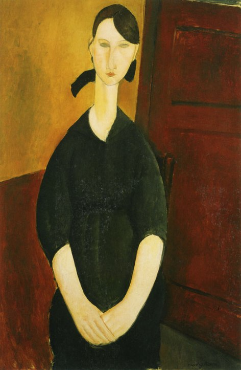 Amedeo Modigliani Paulette Jourdain (circa 1919). Estimate: $25–35 million.  Image: Courtesy of Sotheby's.