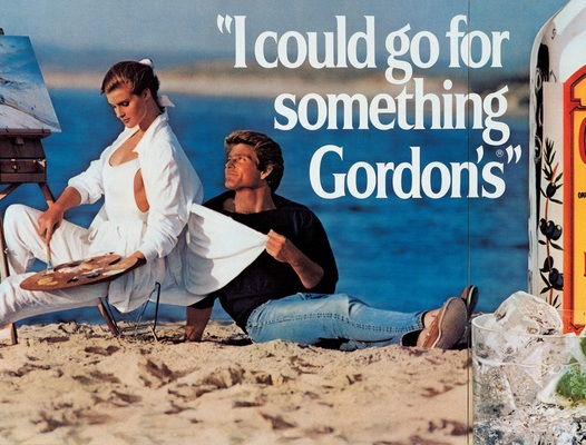 Jeff Koons, I Could Go For Something Gordon's, 1986. Oil inks on canvas