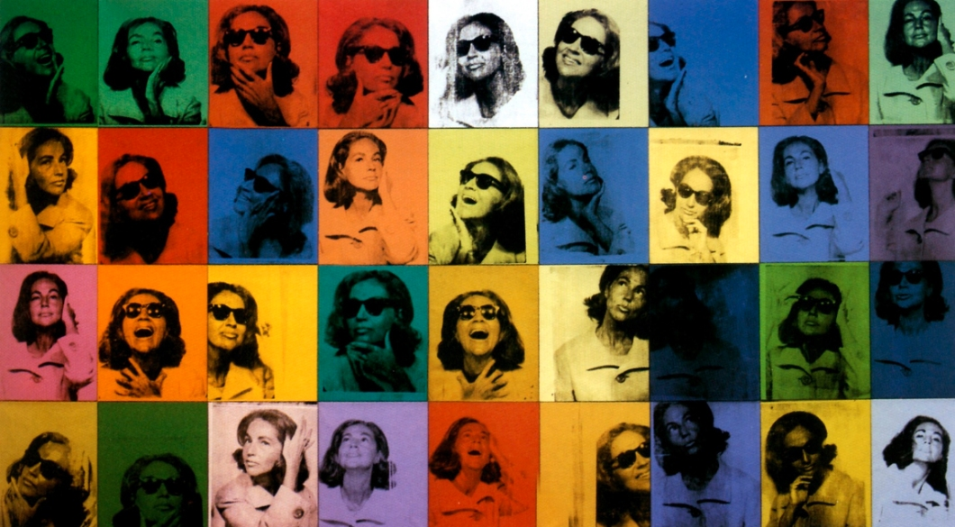 """Andy Warhol's painting titled """"Ethel Scull 36 Times"""" jointly owned by the Whitney Museum of American Art and the Metropolitan Museum of Art."""