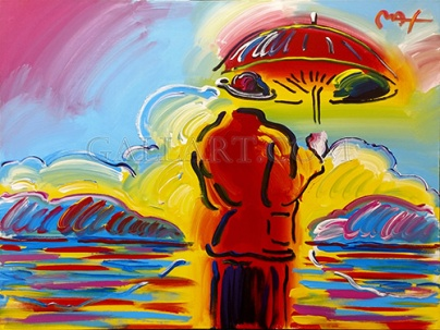 Peter Max, Umbrella Man At Sea