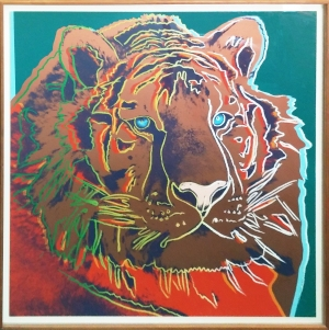 ANDY WARHOL - ENDANGERED SPECIES: SIBERIAN TIGER - 38 X 38 INCHES