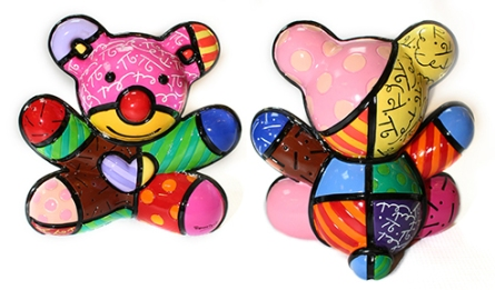 "ROBERTO BRITTO - ""FUN BEAR SCULPTURE"" - 6X5X3 INCHES (FRONT & BACK PHOTO)"