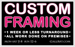 CUSTOM FRAMING AD