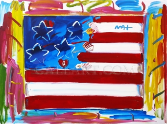PETER MAX - FLAG (GallArt.com)