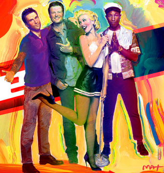 PETER MAX - THE VOICE JUDGES (Courtesy of NBC Network)