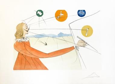 Salvador Dali - DALINEAN PROPHECY - 22.25 x 30.25 inches