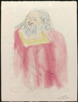 Salvador Dali - JEREMIAH - 26 x 19.8 inches