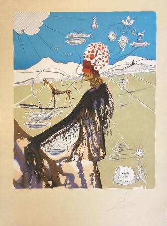 Salvador Dali - THE EARTH GODDESS (THE CHEF) - 29.13 x 21.06 inches