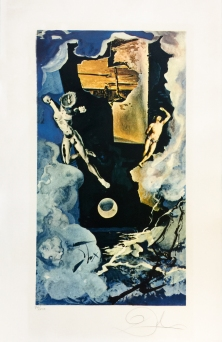Salvador Dali - THE TOWER - 29.92 x 19.10 inches