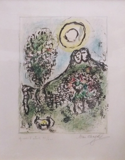 MARC CHAGALL - LE BAOU DE ST-JEANNET II - 21 X 17 INCHES