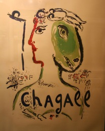 MARC CHAGALL - THE ARTIST AS A PHOENIX (EXHIBITION POSTER) - 64 X 48 INCHES