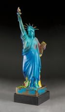 PETER MAX | LIBERTY (BRONZE) | 22.5 X 6.5 X 6.5 INCHES | FOR MORE DETAILS, EMAIL: INFO@GALLART.COM | MENTION CODE #DCGALLART FOR 20% OFF ON YOUR ORDER