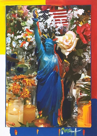 PETER MAX | LAND OF THE FREE | 24 X 18 INCHES | FOR MORE DETAILS, EMAIL: INFO@GALLART.COM | MENTION CODE #DCGALLART FOR 20% OFF ON YOUR ORDER